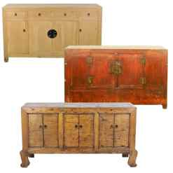 Antique Asian Sideboard Buffet Long cabinets