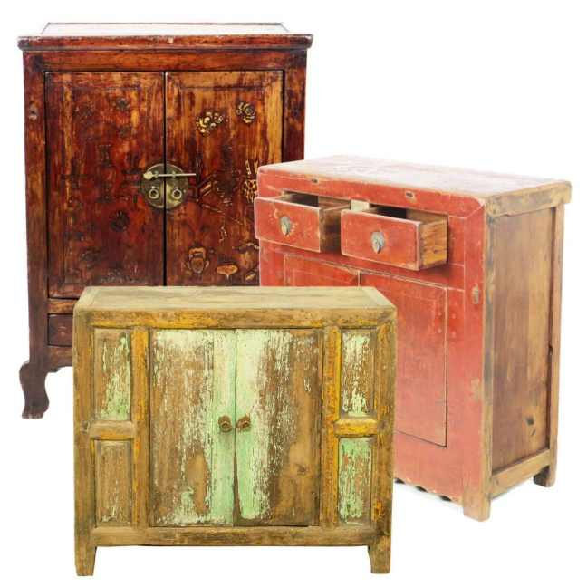 Antique Chinese Small and Medium Cabinets (Chinese Cabinets up to 54