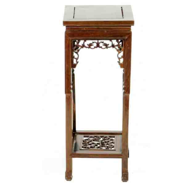 Vintage Chinese Rosewood Small End Tea Table Plant Stand