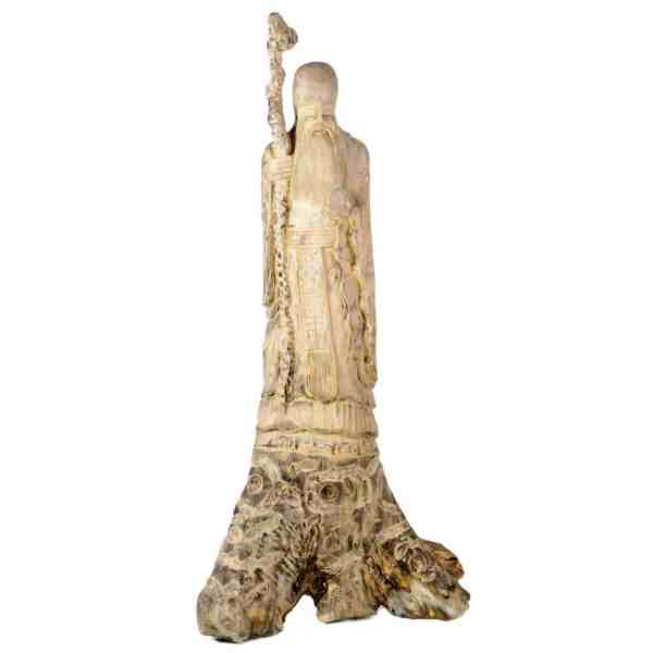 Chinese Carved Root Wood Sculpture Wise Man 57 Inch Tall