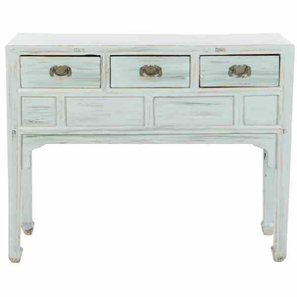 antique-chinese-42-inch-3-drawer-pale-aqua-side-table
