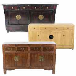 "Antique Chinese Sideboard cabinets, (55"" and Longer)"