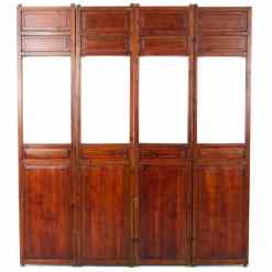 4 Antique Chinese Wedding Bed Panels Doors
