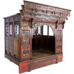 Antique Chinese Opium Wedding Bed