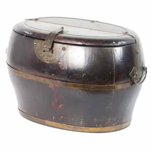 Antique Chinese Wood Utility Bucket