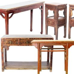 "Antique Chinese Small Tables (up to 54"" Long)"