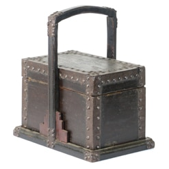 Antique Chinese Small Wood Food Box