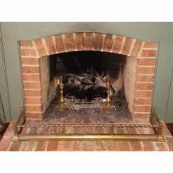 """Victorian Brass Fireplace Fender 52"""""""