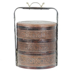 Antique Chinese Wedding Food Basket