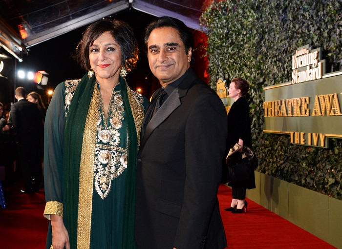 LONDON, ENGLAND - NOVEMBER 22:  Meera Syal (L) and Sanjeev Bhaskar arrive at The London Evening Standard Theatre Awards in partnership with The Ivy at The Old Vic Theatre on November 22, 2015 in London, England.   Pic Credit: Dave Benett