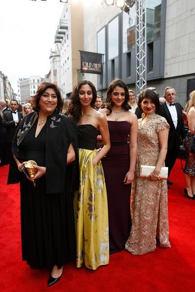 On the red carpet: Gurinder Chadha (creator), Natasha Jayetileke, Natalie Dew , Sohm Kapila