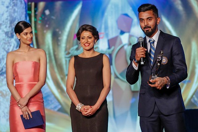 Diana Penty, Anjum Chopra and KL Rahul for Emerging Cricketer of the Year Male