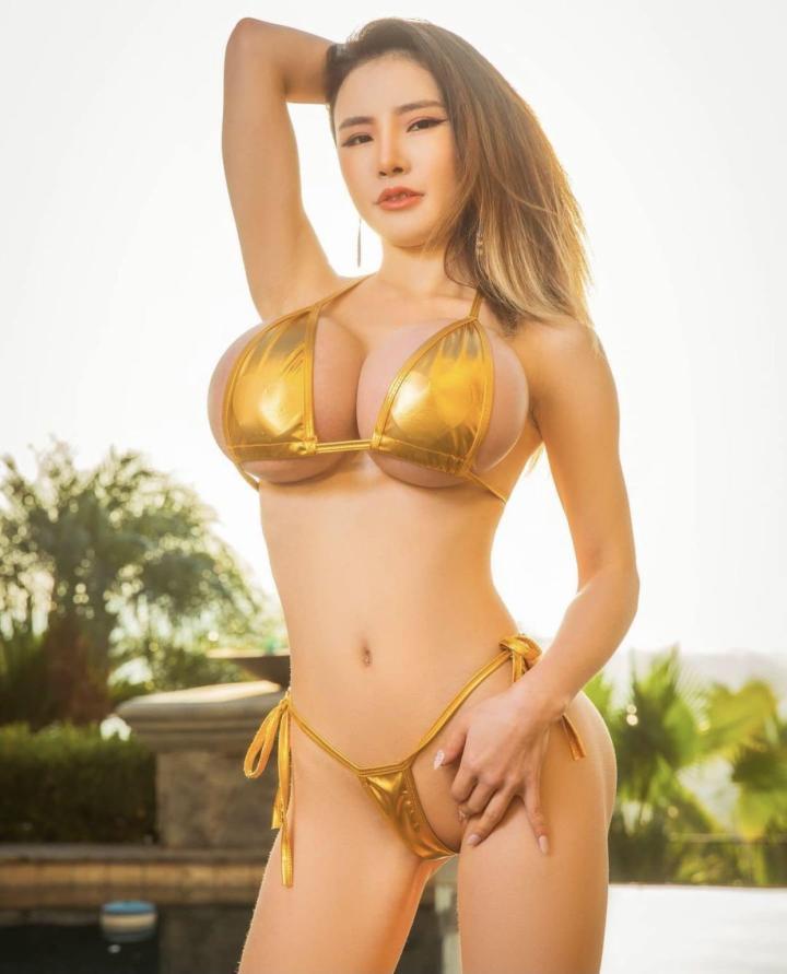 Golden big TITS