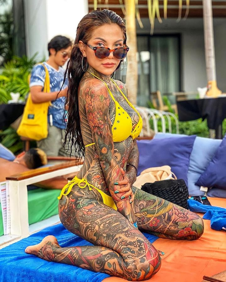 Sour Heart yellow bikini