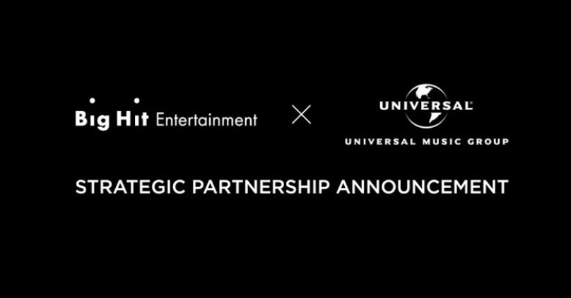 Resultado de imagen para Universal Music Group & Big Hit Entertainment