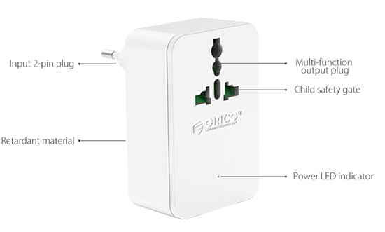 Orico S4U-TUS 20W 4A Travel Super Charger Adapter 1