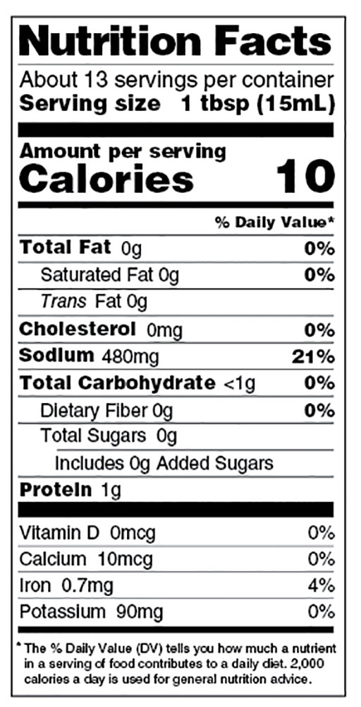 Soy Sauce Label : sauce, label, Organic, Sodium, Sauce, Asian, Organics