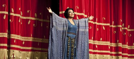 Curtain calls: He Hui after Aida at the Teatro alla Scala, 2013 (Photo: Marco Bravi)