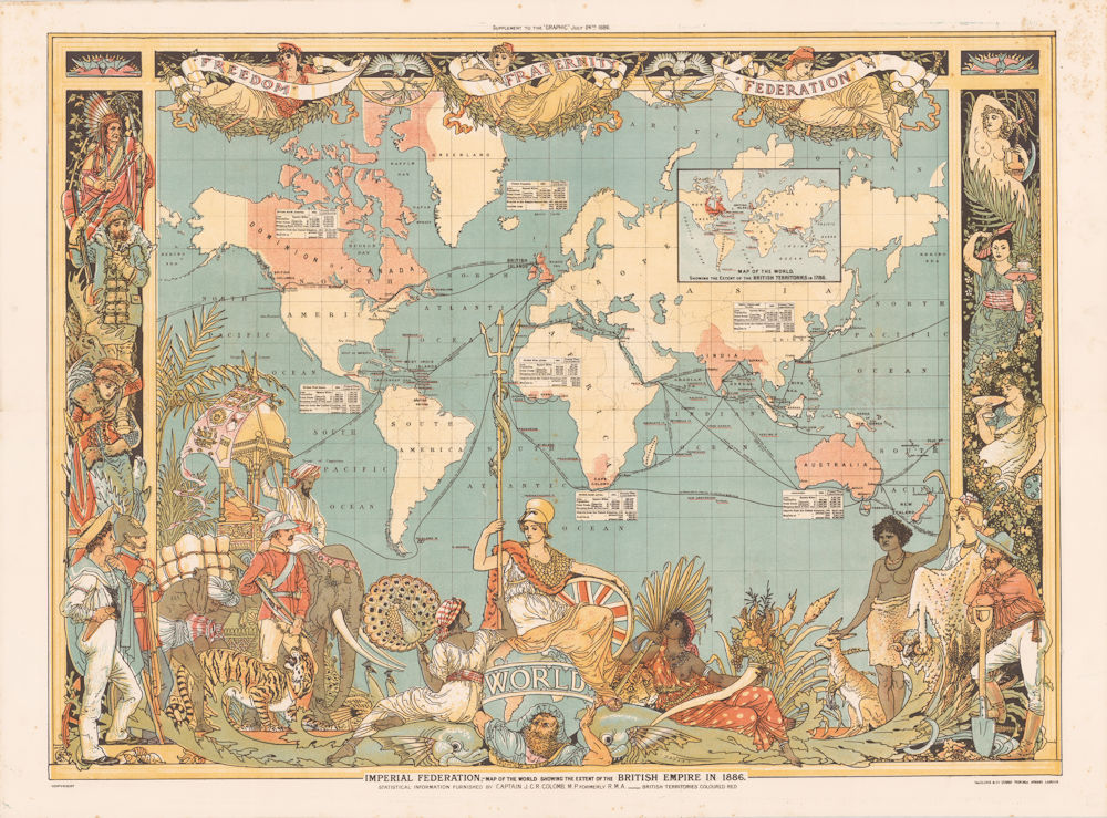 Imperial Federation Map of the World Showing the Extent of the British Empire in 1886 (Cornell University Library)