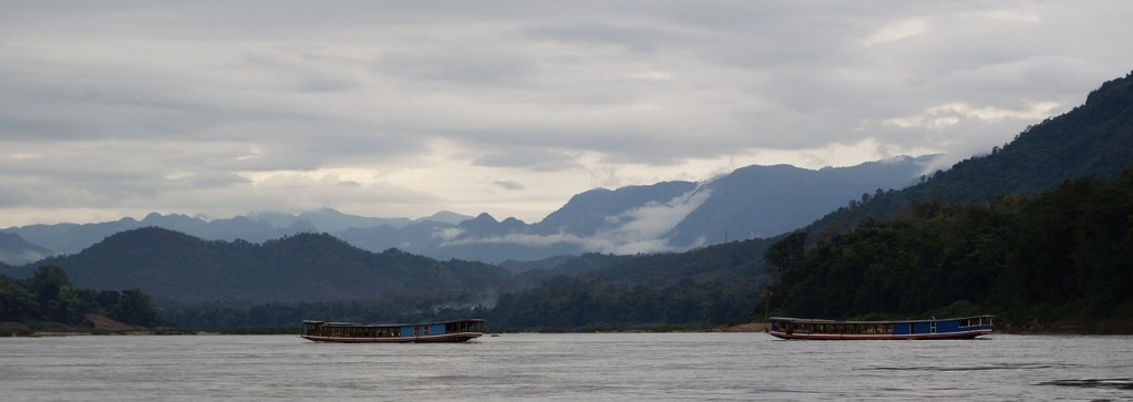 Water Mekong Mountains River Misty Mist Boat