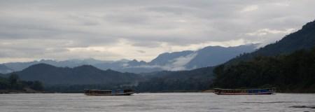 Water Mekong Mountains River Misty Mist Boat