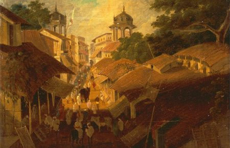Colonial Patna (Sir Charles D'Oyly, Yale Center for British Art, via Wikimedia Commons)