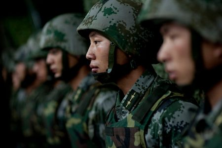 Soldiers of the Chinese People's Liberation Army 2011 (via Wikimedia Commons)