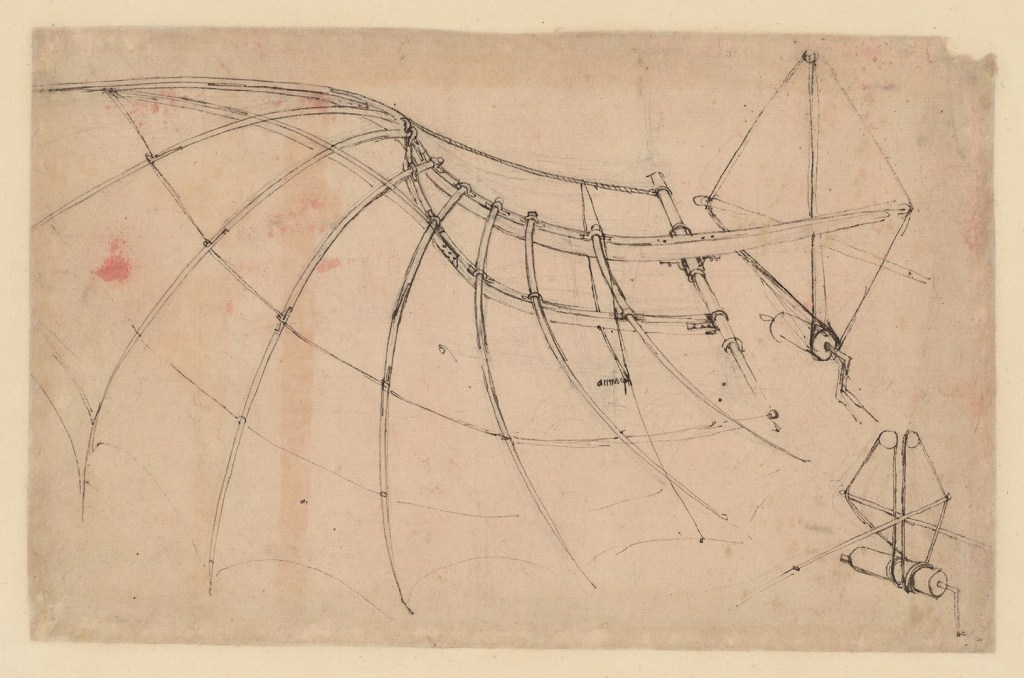 Study of Artificial Wing, circa 1478-80 (Veneranda Biblioteca Ambrosiana via CityU Exhibition Gallery)