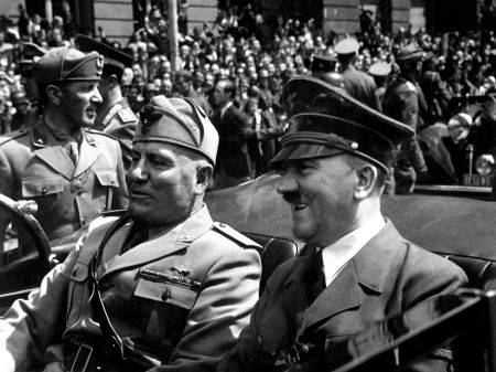 Adolf Hitler and Benito Mussolini in Munich, 1940 (Wikimedia Commons) Date 	June 1940