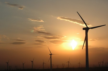 Wind farm in China (via Wikimedia Commons)