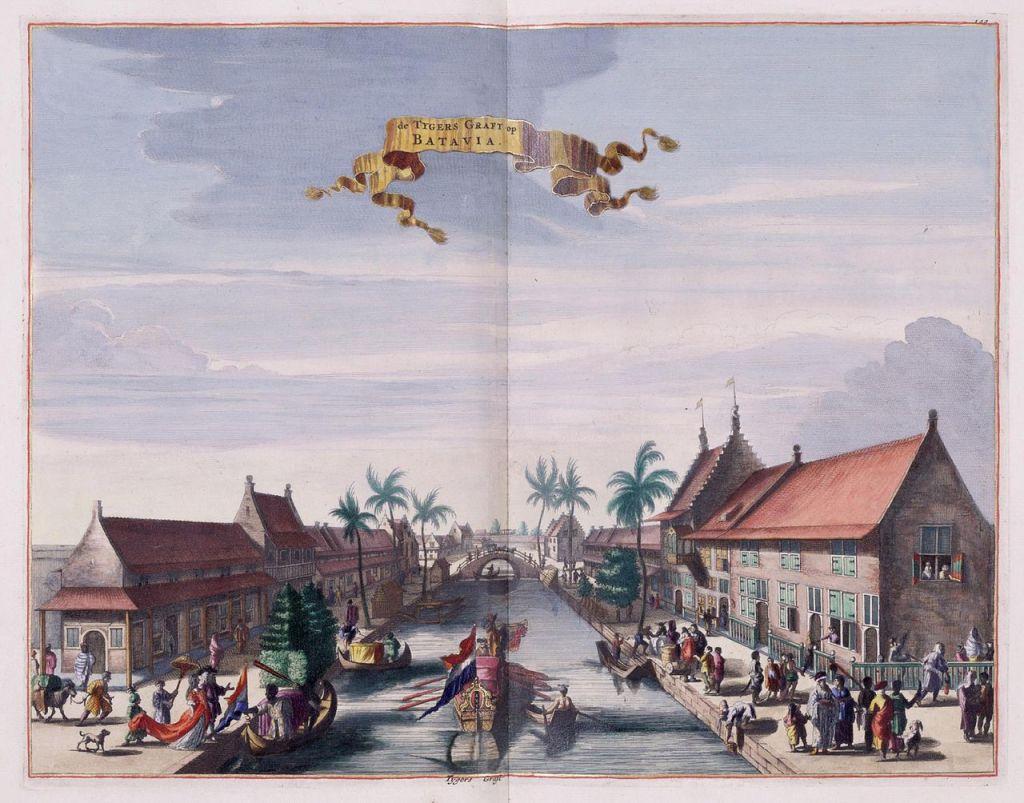 View of the Tijgersgracht on Batavia, c. 1682 (Wikimedia Commons)