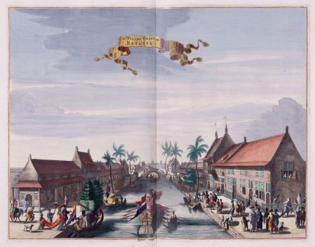 View of the Tijgersgracht on Batavia, c. 1682 (Wikimedia Commons)