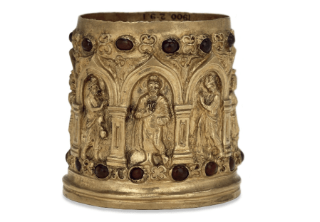 The Bimaran Reliquary, excavated by Charles Masson, now at the British Museum