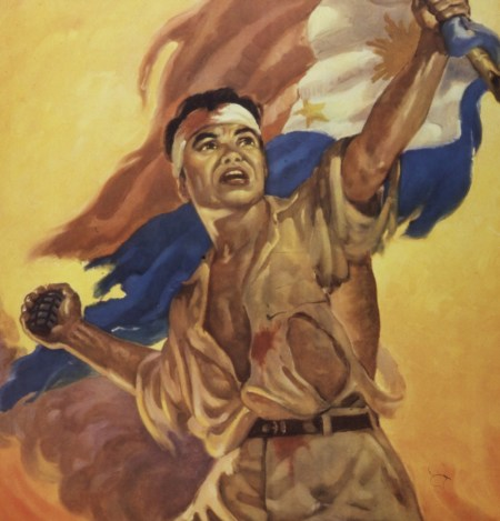 Detail of poster by Manuel Rey Isip (via Wikimedia Commons)