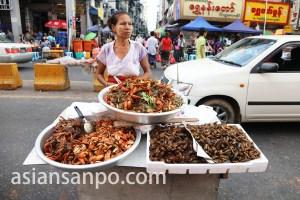 ミャンマー 中華街屋台