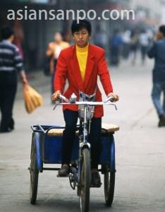 中国 景洪・人力車