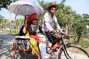 ミャンマー ヤンゴン管区のリキシャー
