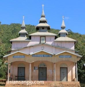 ミャンマー 奥インレー 教会