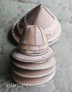 ミャンマー モーラミャイン ビル島 帽子