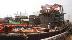 ミャンマー ベイ 造船所