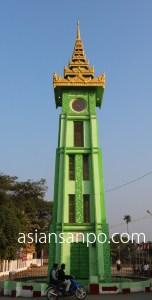 ミャンマー チャオピュー時計塔