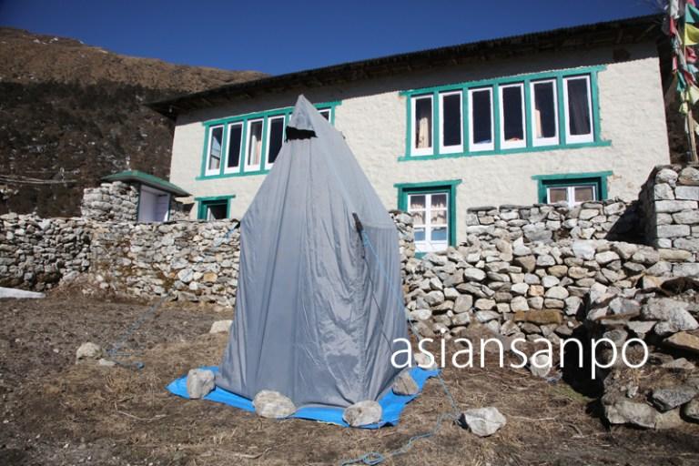 ネパール エベレスト街道 クンデ トイレ
