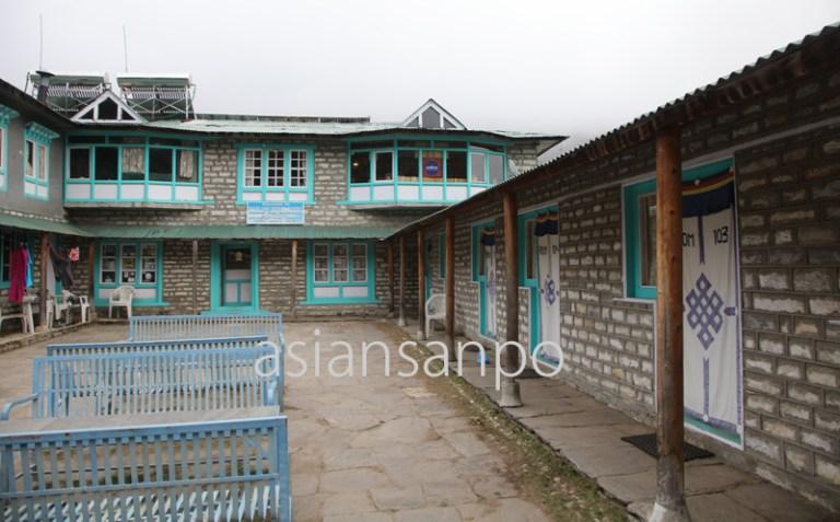 ネパール エベレスト街道 パンボチェ ロッジ