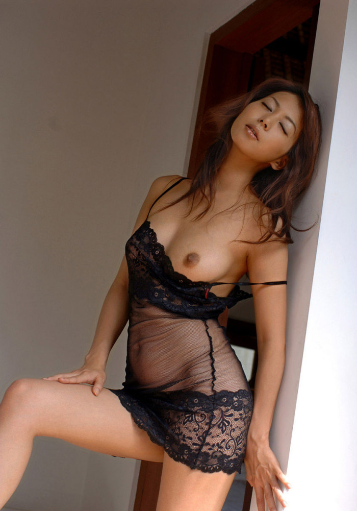 Asian girl with soft natural boobs at home