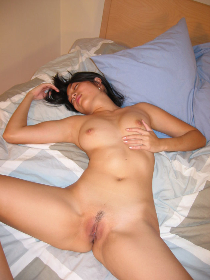 Asian babe with small tits and beautiful face