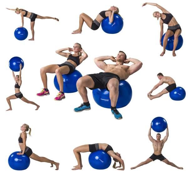 Durable PVC Anti-burst Gym Ball-Blue