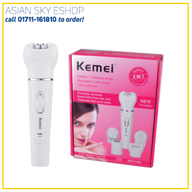 KEMEI KM-2199 5 IN 1 Rechargeable Bikini Hair Elestric Hair Epilator Shaver Depilator Hair Remover for Lady Beauty