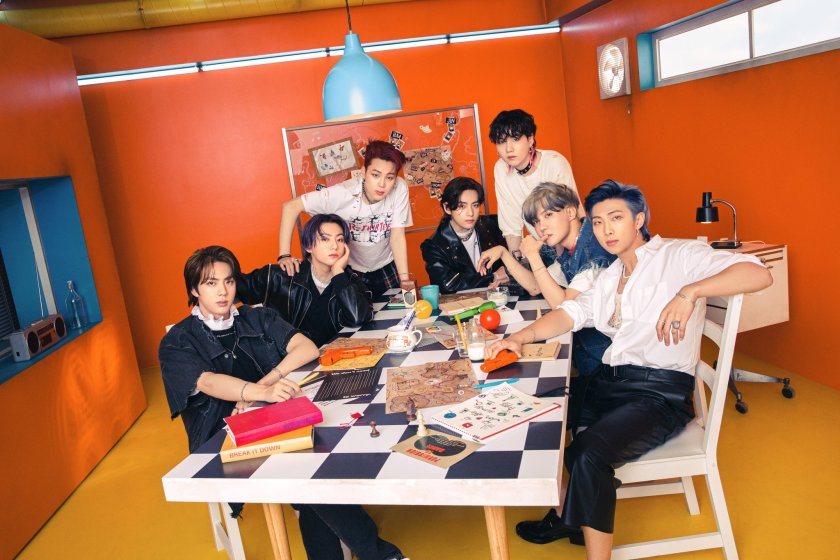 """BTS shares the first concept photos of the CD of """"butter"""" 