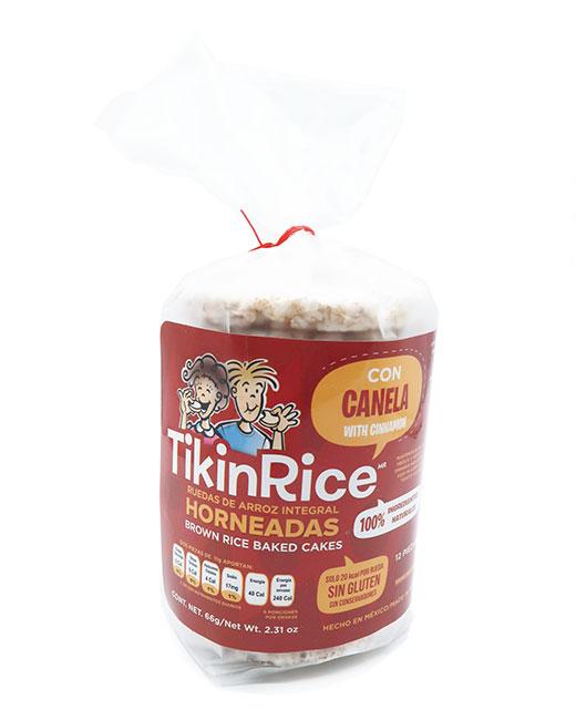 Tikinrice Ruedas De Arroz Integral Con Canela