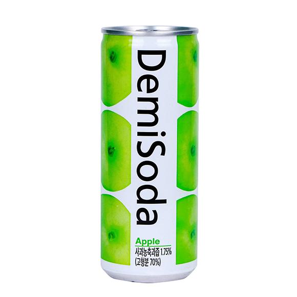 Demisoda bebida carbonatada sabor manzana 250 ML